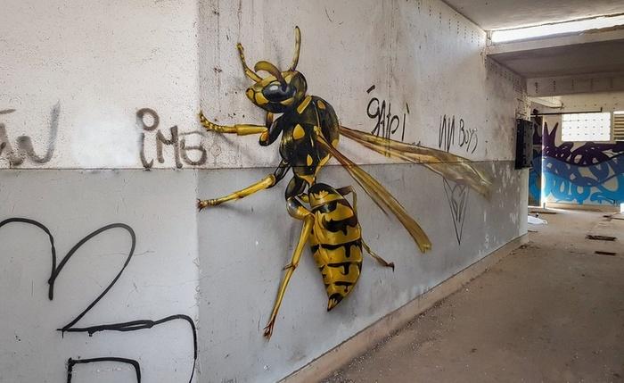 Удивительные трёхмерные граффити от португальского художника