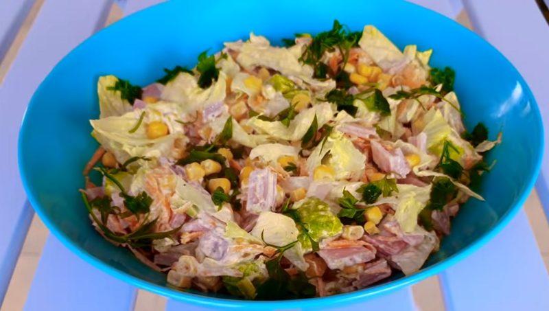 Вкусный, простой и доступный салатик на каждый день