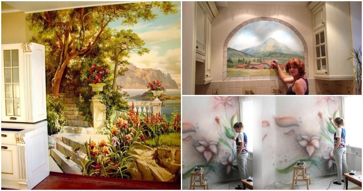 Очаровательное решение для любого интерьера: роспись стен акрилом