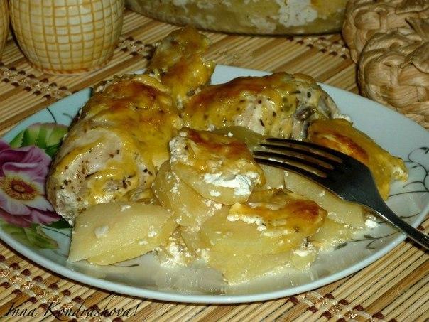 Картошка с куриными ножками в духовке 👍