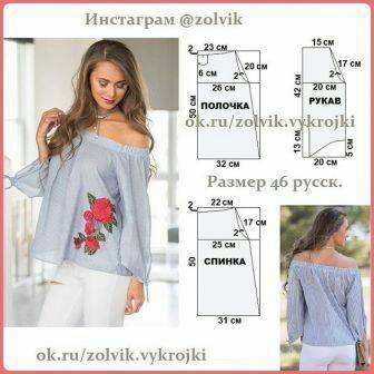 Интересные идеи блузок и не только: с выкройками или вариантами моделирования 3