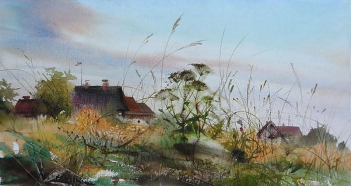 И освежительный туман Встаёт с оттаявших полей... Акварели Ильи Ибряева
