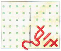 Вышивка крестиком по диагонали. Двойная диагональ справа налево (фото 6)