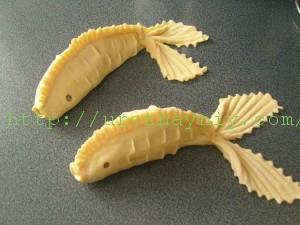 Как лепить манты - рыбка