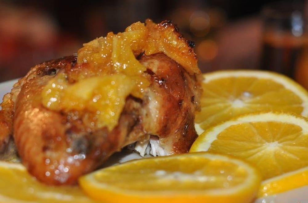 Куриные ножки с апельсинами в вине-идеальное блюдо к праздничному столу
