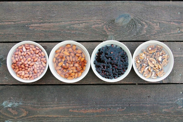 Замачивание семечек и орехов