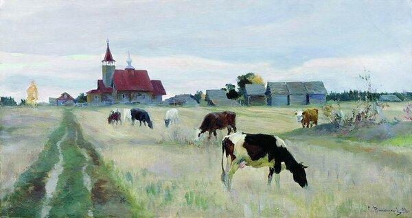 """""""Осень"""" Сегрей Виноградов 1898"""