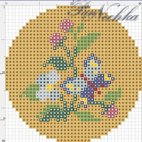 Вышивка бисером схемы по кругу 35