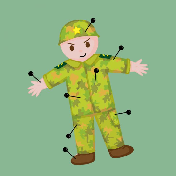 Решили три генерала проверить, у кого солдаты более выносливые…