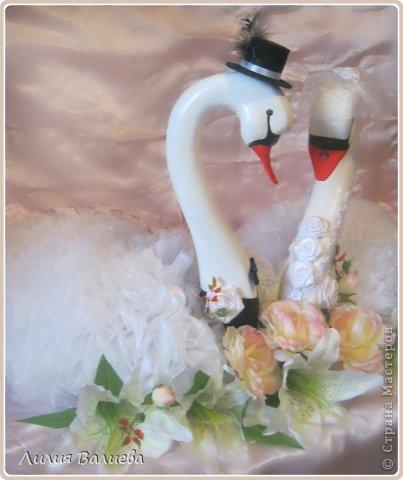 Мастер-класс Поделка изделие Свадьба Моделирование конструирование Как я делала лебедей МК Клей Ленты Ткань фото 15