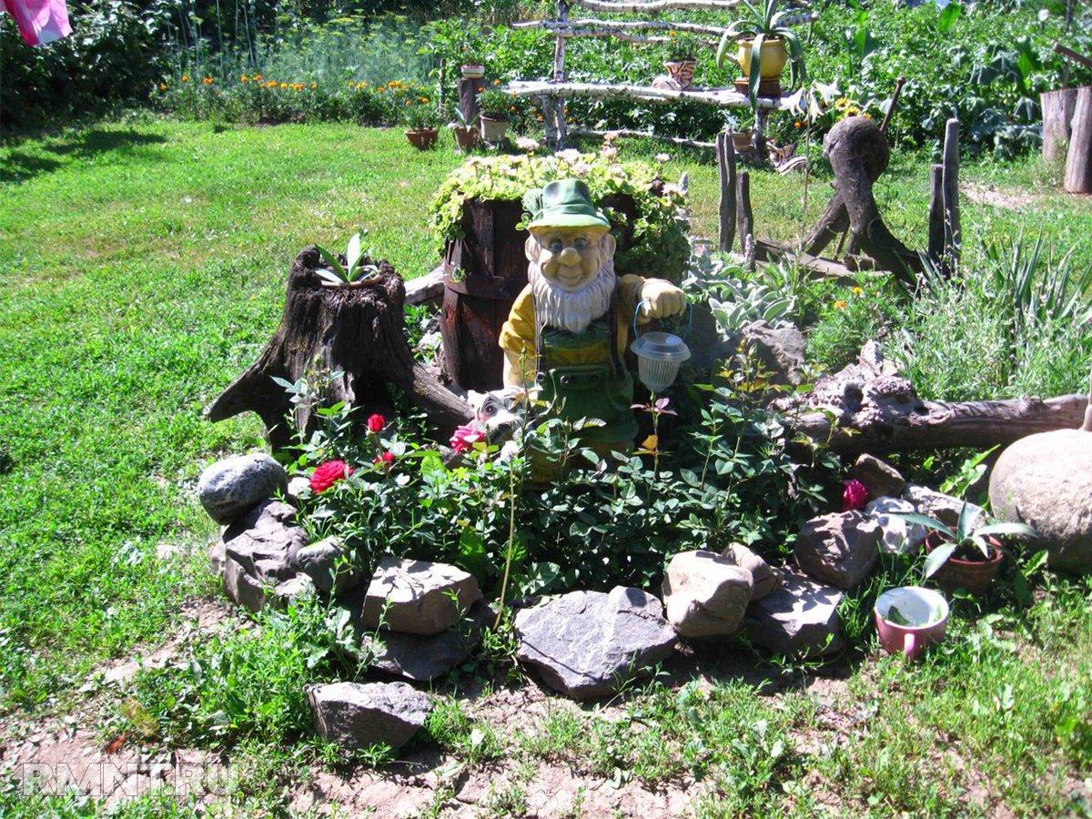 Все про рутарий или как сделать сад из старых пней и корней своими руками