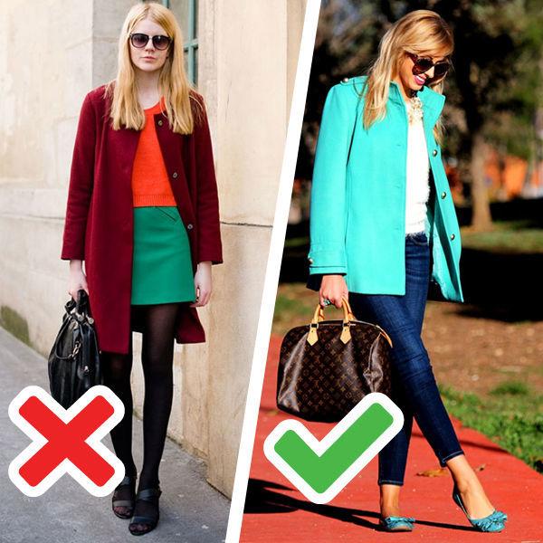 Красный с синим, зеленый с желтым и другие запрещенные сочетания цветов в одежде.