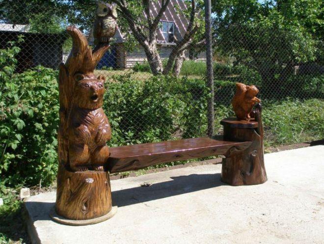 садовые деревянные скамьи