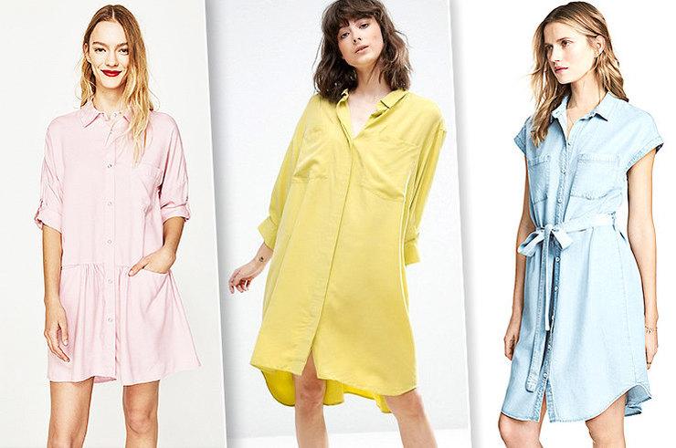 Просто и стильно: 12 платьев-рубашек, которые ты будешь носить всё лето