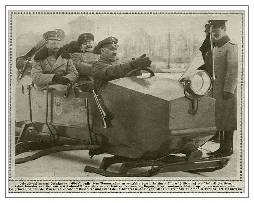 Германские аэросани с пропеллером. Чуть позже подобные машины появились на вооружении Красной Армии.