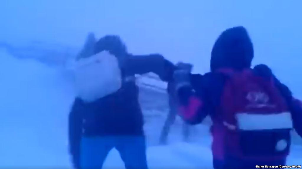 Жажда знаний: Якутские школьники, идущие домой в пургу, поразили иностранцев