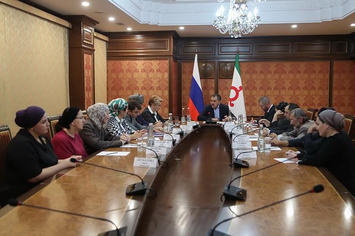 Евкуров обсудил с историками закон об определении границы между Ингушетией и Чечней