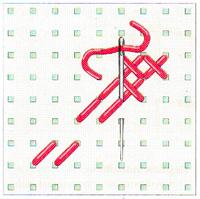 Вышивка крестиком по диагонали. Двойная диагональ слева направо (фото 12)