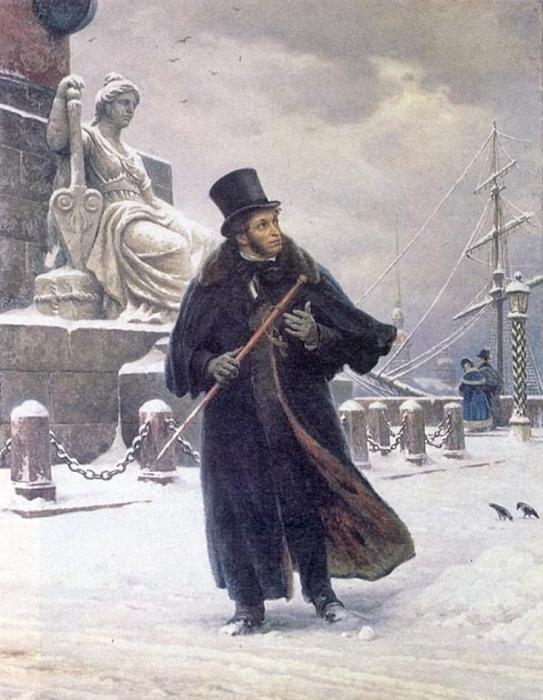 А. С.Пушкин в Петербурге. Худ. Б. В.Щербаков, 1949 год  (543x700, 327Kb)