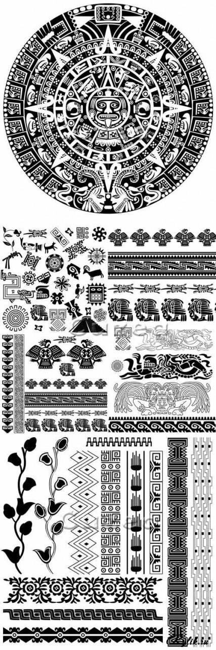 Этнические векторные орнаменты, рисунки