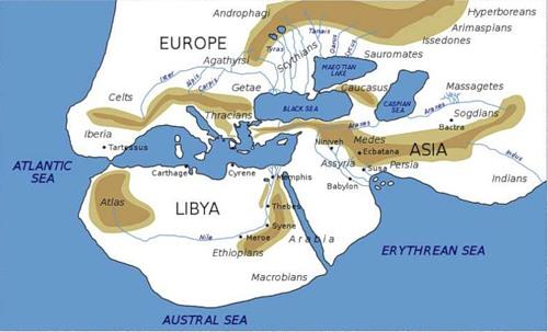 Скифские реки из «Истории» Геродота