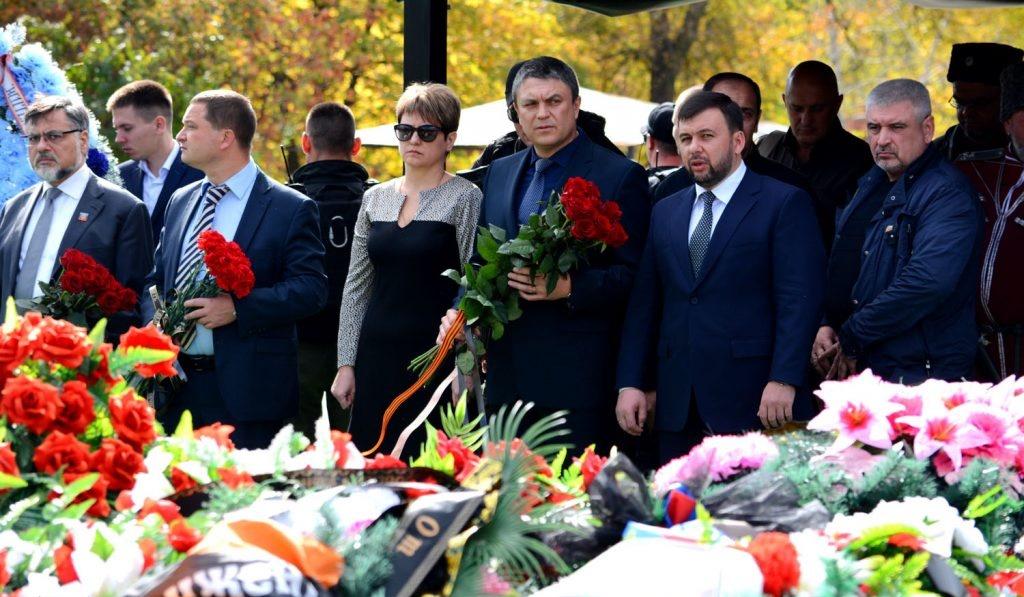 В ДНР почтили память Александра Захарченко