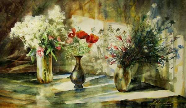 Радостное созерцание красоты -- акварели художника Александра Бобрышева