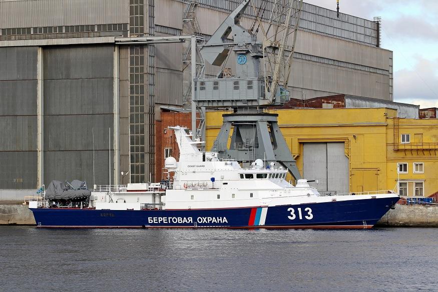 Введен в строй пограничный сторожевой корабль «Керчь»