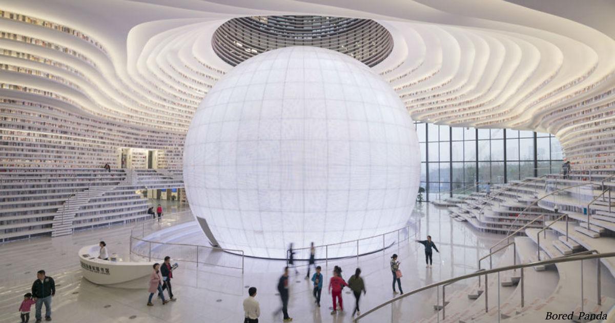 Китай открыл самую крутую библиотеку в мире! От нее перехватывает дыхание!