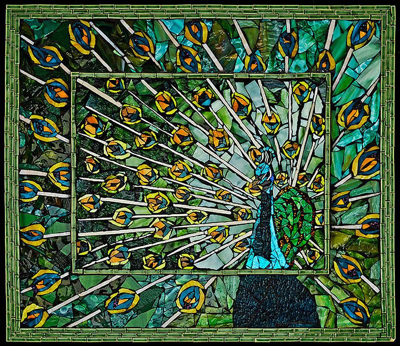 1232 Невероятные мозаики из ключей, деталей часов и других механизмов