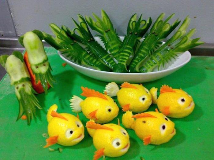 Как сделать из овощей фигурки