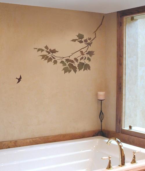 Трафареты для ванной комнаты