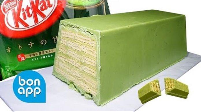 Гигантский «Кит Кат» с зеленым чаем