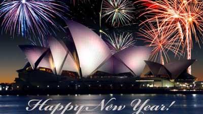 Новогодний фейерверк в Сидне…