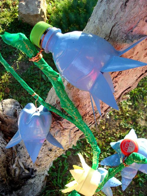 колокольчики из бутылок пластиковых своими руками для сада