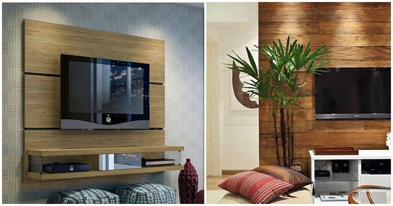 Восхитительная деревянная панель для ТВ — практичное решение для интерьера