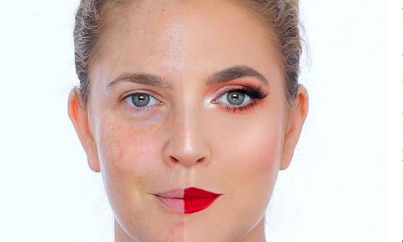 Как Дрю Бэрримор попыталась впечатлить поклонников красотой своего макияжа, а вышло наоборот