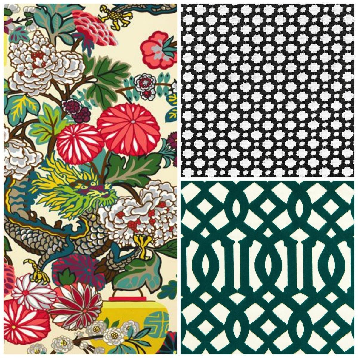 Сочетание текстильных узоров в интерьере