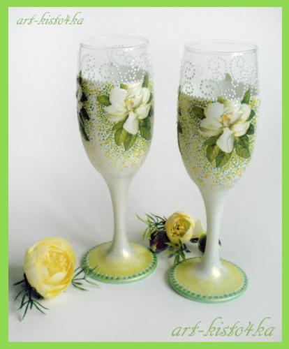 Декупаж мастер класс свадебных бокалов своими руками