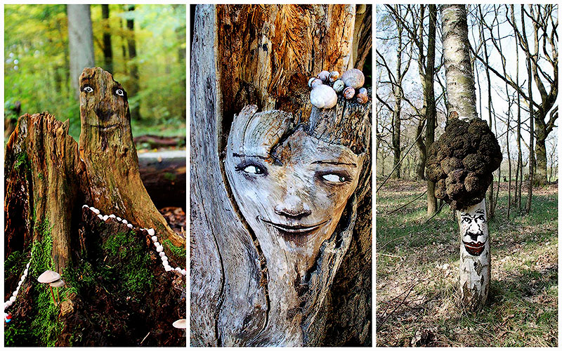 BIGPIC15 Забавные лица в лесу