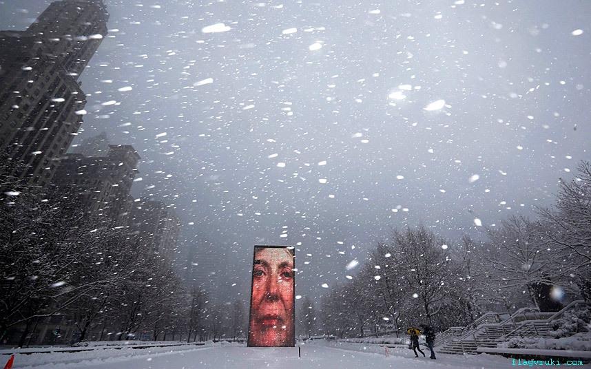 Снежная буря вновь надвигается на Средний Запад и северо-восток США.