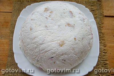 Желейный торт из печенья со сгущенкой без выпечки, Шаг 09