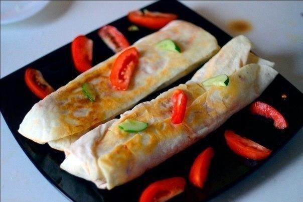 Домашняя шаурма с курицей и овощами. Непревзойденное блюдо!