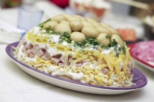 Салат Полянка: Рецепт приготовления