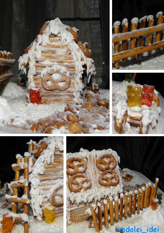 Новогодне-рождественский домик без выпечки. Какая прелесть!