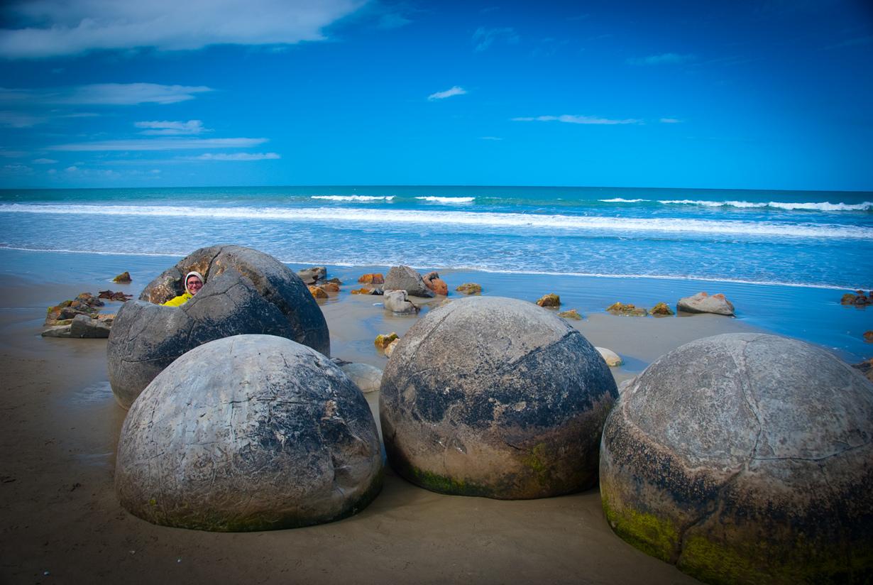 Новая Зеландия. Валуны Моераки. (Chilly Chill)