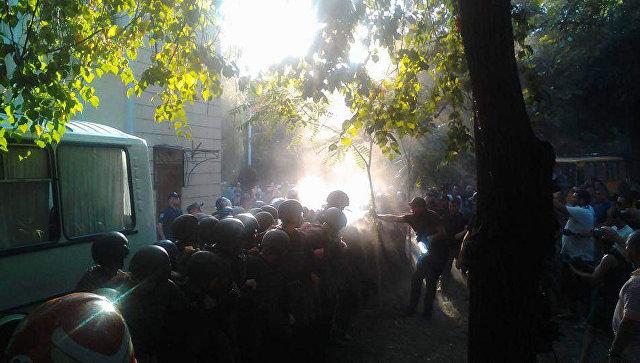 Украинские нацисты устроили беспорядки у суда по делу 2 мая
