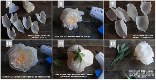 Цветы из гофр бумаги своими руками фото