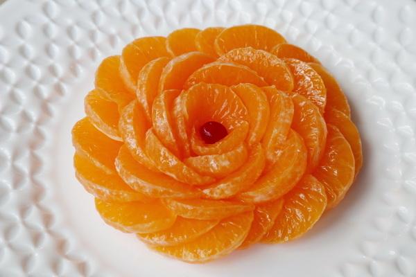 Цветок из мандарина - отличн…