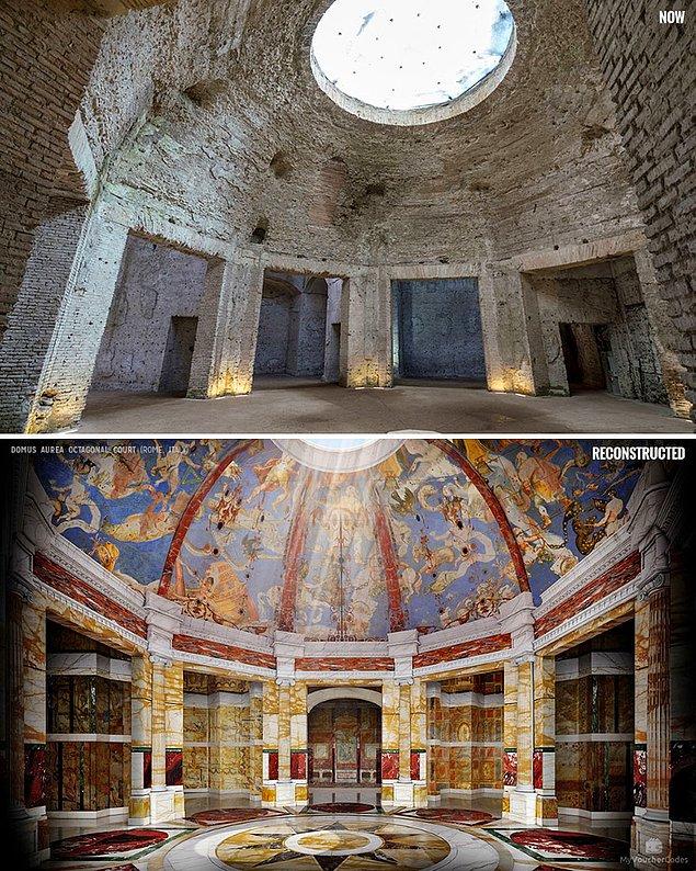 Восьмиугольный зал в Золотом дворце Нерона, Рим, Италия